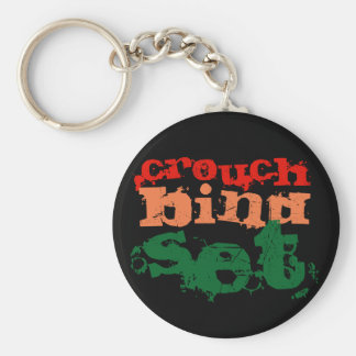 Rugby Keyring (Crouch Bind Set) Basic Round Button Key Ring