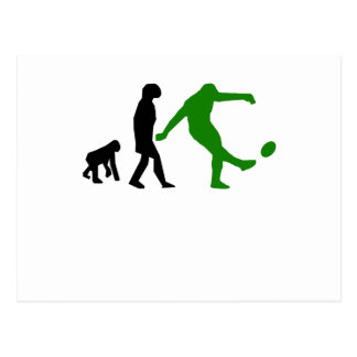 Rugby Kick Evolution (Green) Postcard