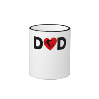 Rugby Kick Heart Dad Coffee Mugs