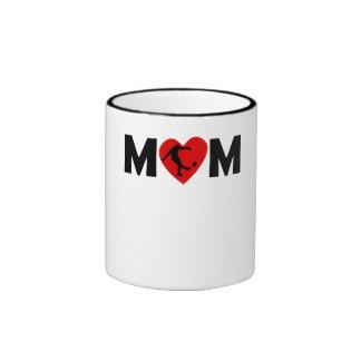 Rugby Kick Heart Mom Mug