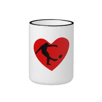Rugby Kick Heart Coffee Mug
