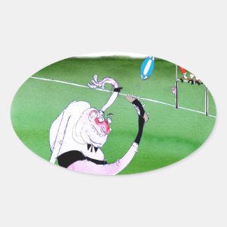 rugby kick, tony fernandes oval sticker