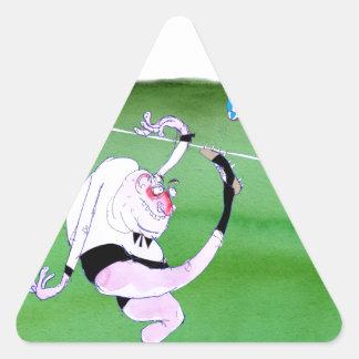 rugby kick, tony fernandes triangle sticker