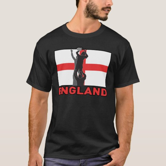 Rugby lineout throw ball england flag T-Shirt