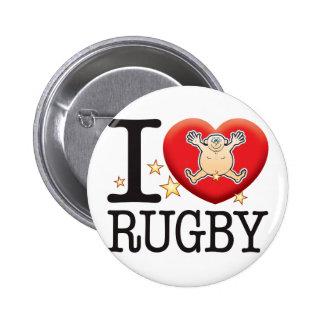 Rugby Love Man 6 Cm Round Badge