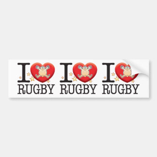 Rugby Love Man Bumper Sticker