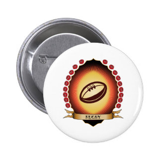 Rugby Mandorla Pinback Buttons