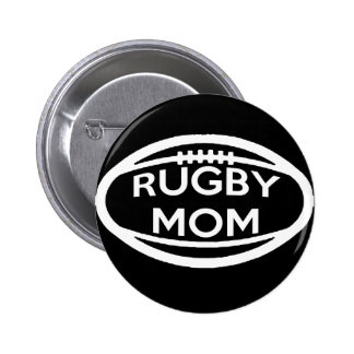 Rugby Mom 6 Cm Round Badge