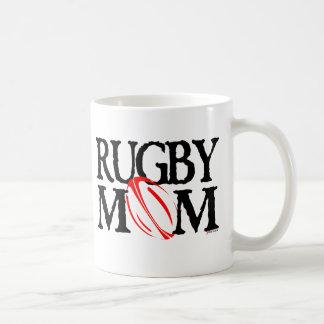rugby mom basic white mug
