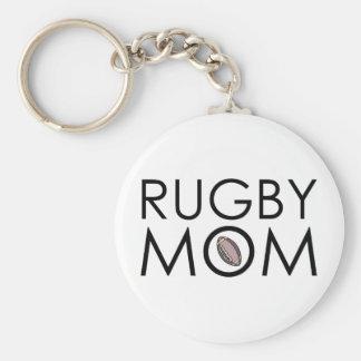 Rugby Mom Key Ring