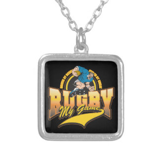 Rugby My Game Silver Plated Necklace