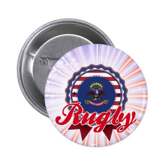 Rugby, ND Pinback Button