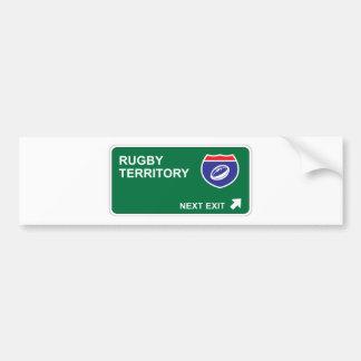 Rugby Next Exit Bumper Sticker