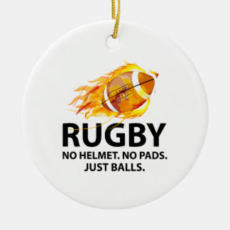 Rugby. No Helmet. No Pads. Just Balls. Christmas Ornament