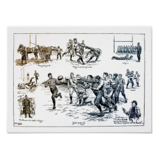 Rugby - North Vs South Vintage Poster