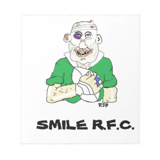 rugby notepad