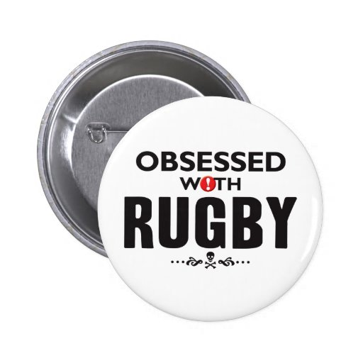 Rugby Obsessed Pinback Button