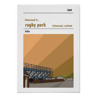 Rugby Park, Kilmarnock. Stadium Print