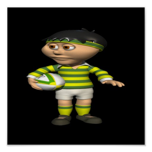 Rugby Player 2 Poster