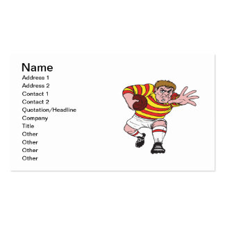 Rugby Player 4 Business Card Templates