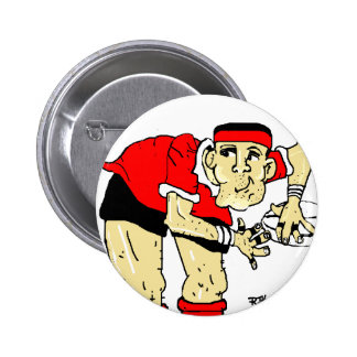 RUGBY PLAYER 6 CM ROUND BADGE