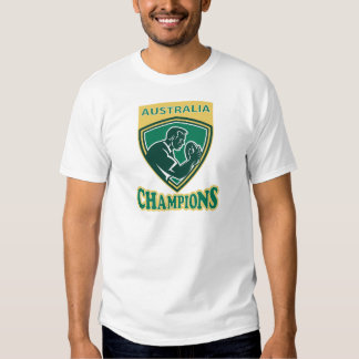 Rugby player Australia Champions shield Shirt