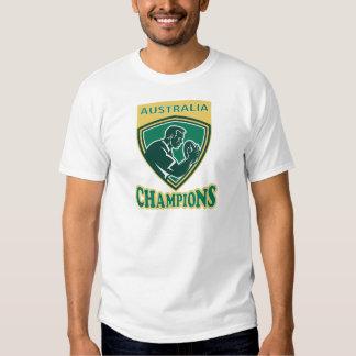 Rugby player Australia Champions shield Shirt
