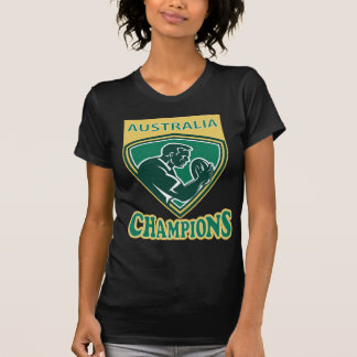 Rugby player Australia Champions shield T-Shirt