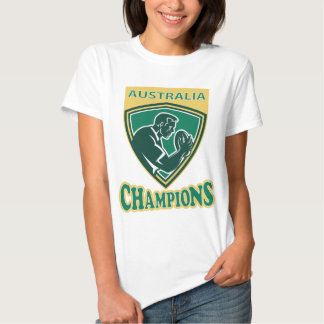 Rugby player Australia Champions shield T Shirts