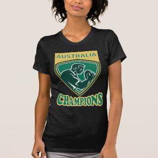 Rugby player Australia Champions shield Tshirt