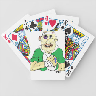 RUGBY PLAYER BICYCLE PLAYING CARDS