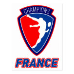 rugby player Champions France Postcards