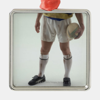 Rugby player christmas ornament