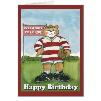 Rugby Player - Female Birthday Card