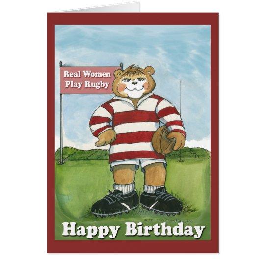 Rugby Player Female Birthday Card Zazzle