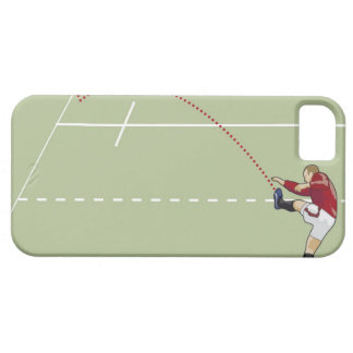 Rugby player kicking ball into touch, dotted iPhone 5 cover