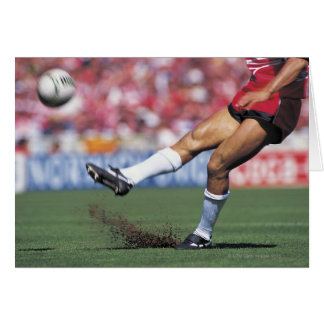 Rugby Player Kicking the Ball Card