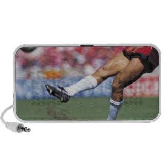 Rugby Player Kicking the Ball Portable Speaker