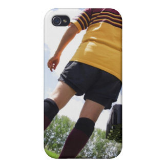 Rugby player on the sideline with refreshments case for iPhone 4