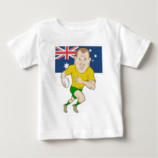 Rugby player running with ball Australia flag Infant T-Shirt