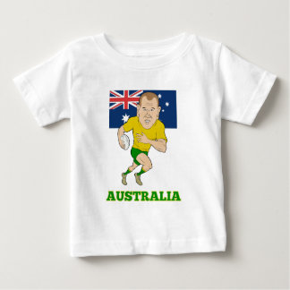 Rugby player running with ball Australia flag Tshirts