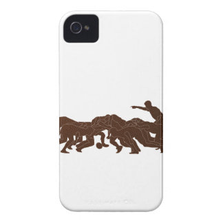 rugby player scrum metal texture iPhone 4 Case-Mate case