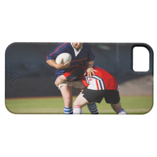 Rugby player tackling another case for the iPhone 5