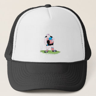 rugby player, tony fernandes trucker hat