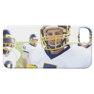 rugby player wearing helmet and standing barely there iPhone 5 case
