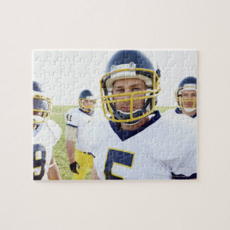 rugby player wearing helmet and standing jigsaw puzzle