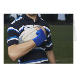Rugby player with ball card