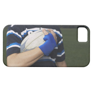 Rugby player with ball case for the iPhone 5