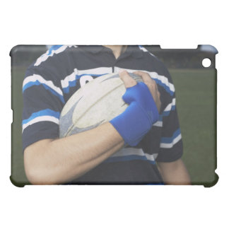 Rugby player with ball iPad mini case