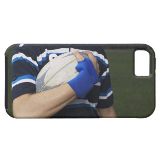 Rugby player with ball iPhone 5 cover